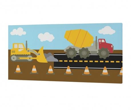 Tablou Construction Autoband 27x53 cm