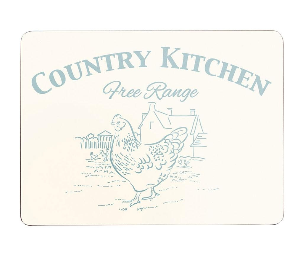 Country Kitchen 4 Db Tányéralátét 22x29 Cm