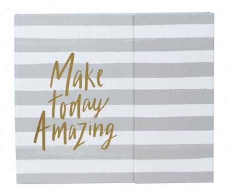 Tedenski planer Make Today Amazing Stripe