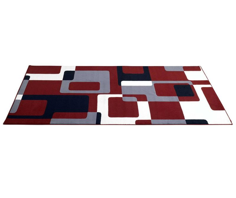 Preproga Retro Red, Grey, Black 80x150 cm