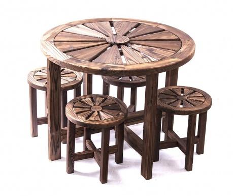 Sada stôl a 4 stoličky Rotonda