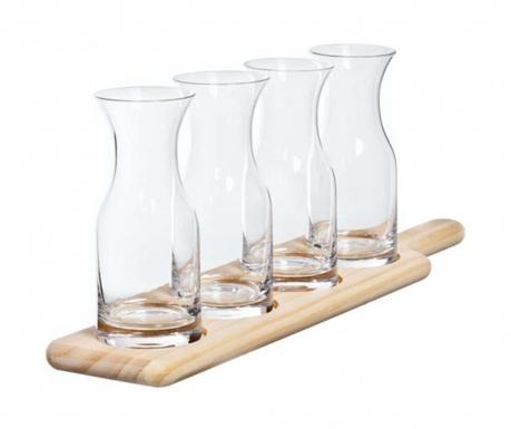 Zestaw 4 szklanki i podstawka Tasting