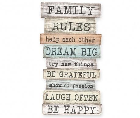Zidni ukras Family Rules