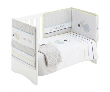 Czteroczęściowy zestaw do łóżeczka Elephant Grey