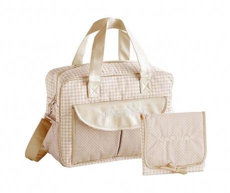 Zestaw torba na pieluchy i składany przewijak Vivian Beige