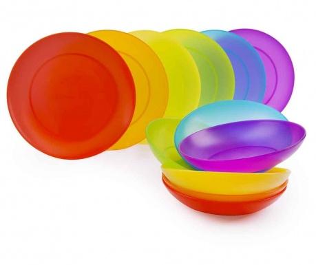 12-dijelni servis za jelo Rainbow