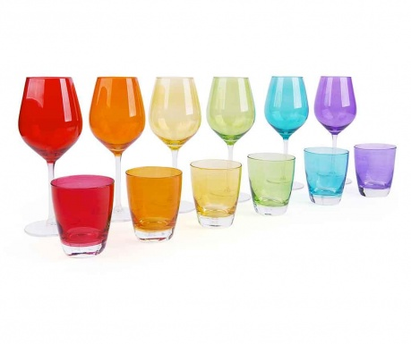 Sada 12 sklenic Combi Multicolor