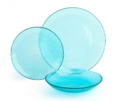 Set de masa 12 piese Scatch Light Blue