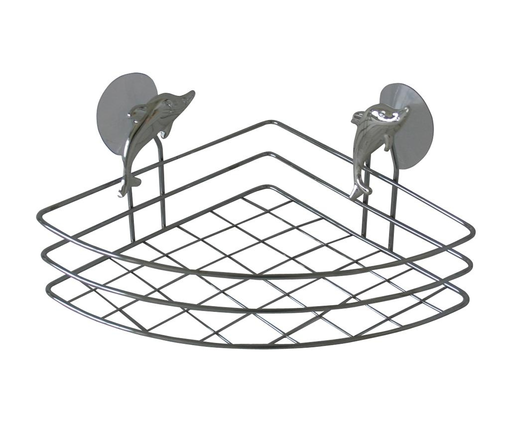 Suport accesorii de baie Corner Dolphin