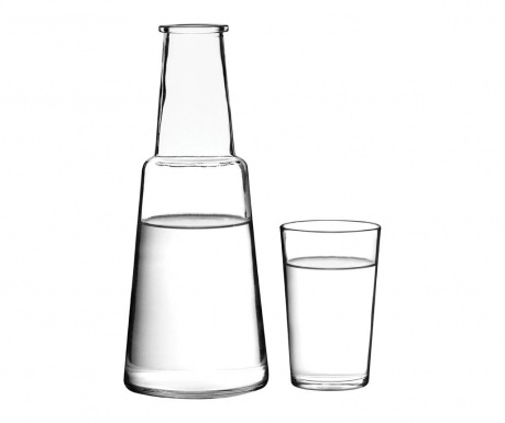 Set of bottle and glass Verity