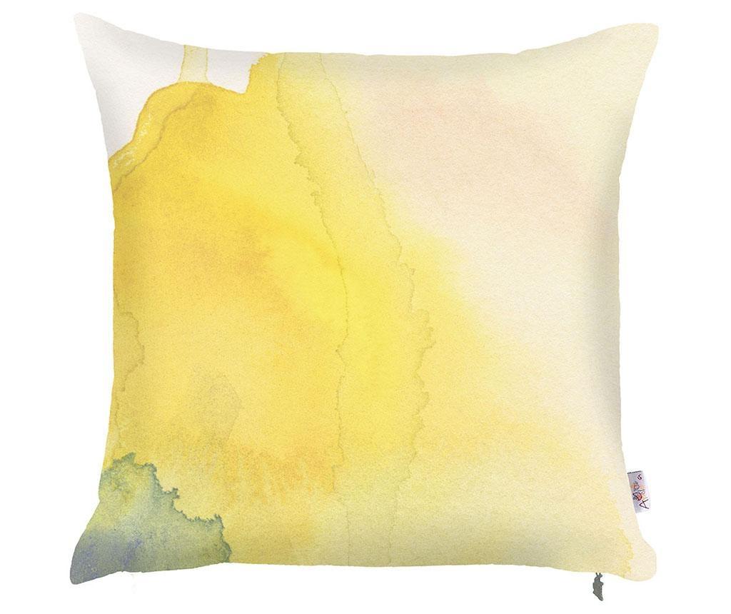 Povlak na polštář Yellow Paint 43x43 cm
