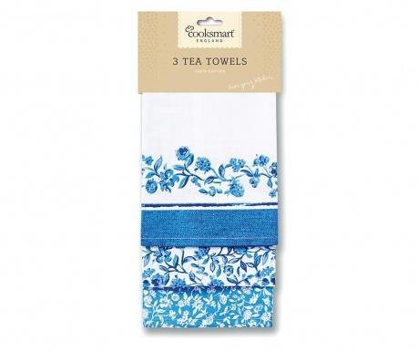 Zestaw 3 ręczników kuchennych Blue Style 45x65 cm
