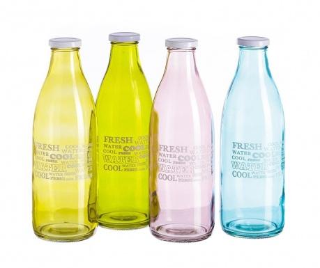 Set 4 steklenic s pokrovom Fresh 1 L