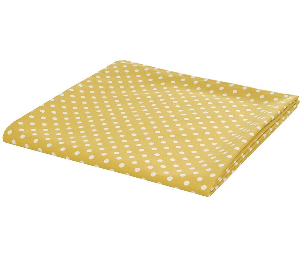 Fata de masa Polka  Dots Yellow 140x170 cm