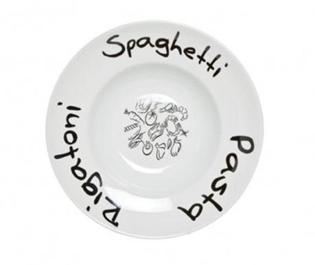 Writing Tésztás tányér