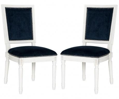 Set 2 stolice Madie Navy Velvet