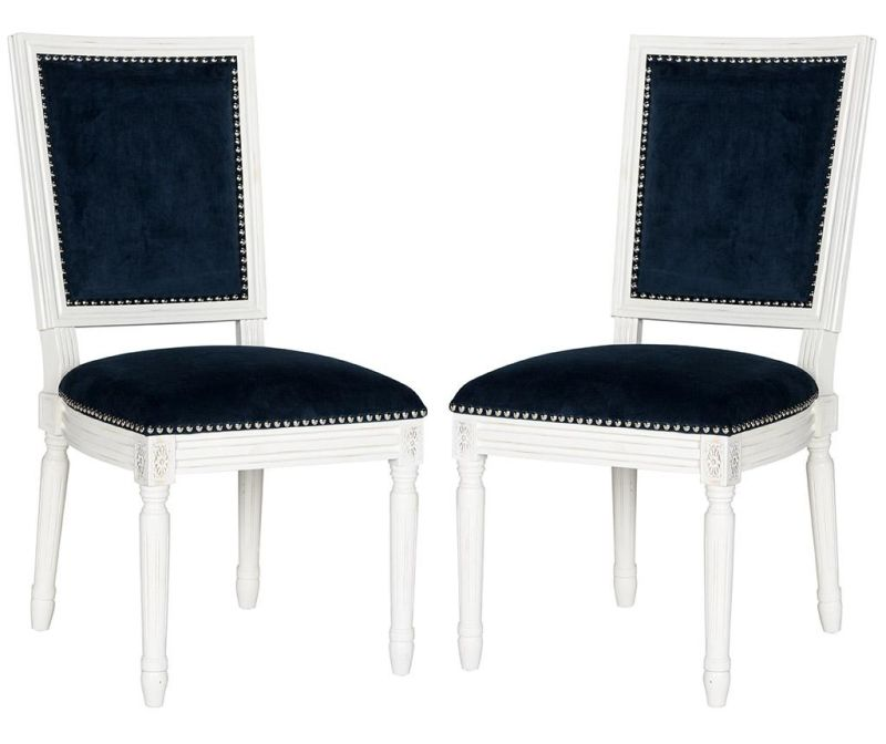 Sada 2 židlí Madie Navy Velvet