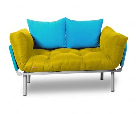 Raztegljiva zofa Relax Yellow Turquoise