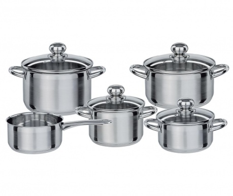 Комплект съдове за готвене 9 части Silver Star