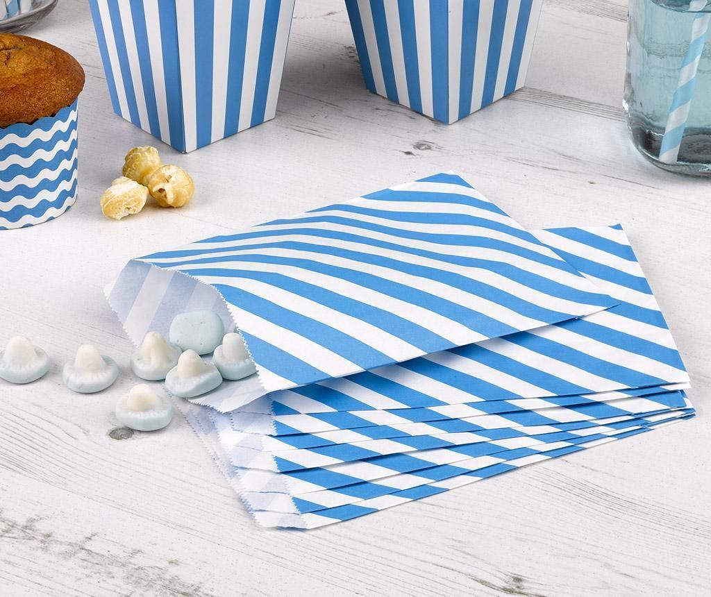 Set 24 omotnice za konfete Stripes Blue