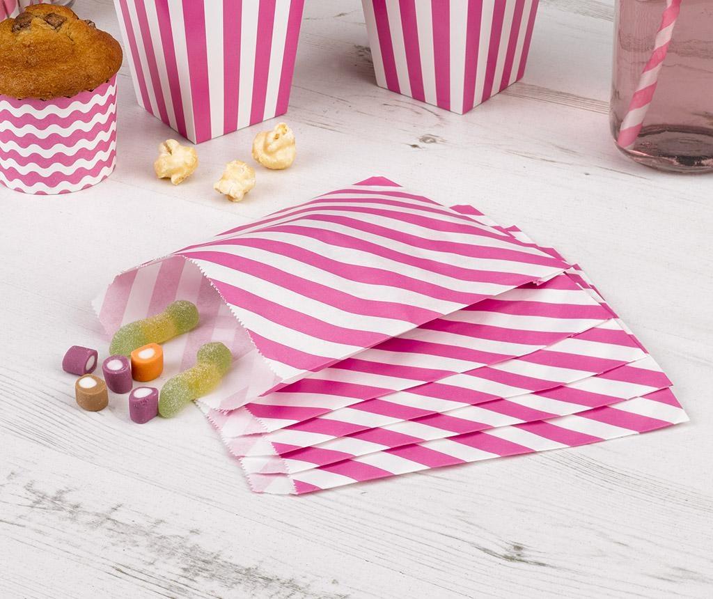Stripes Pink 25 darab Boríték cukorkának