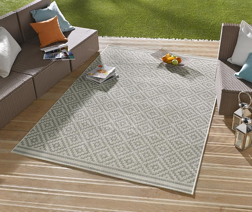 Covor de exterior Meadow Raute Grey Cream 80x200 cm