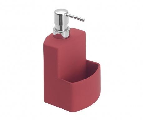 Диспенсър за течен сапун с поставка за гъбичка Festival Red 380 мл