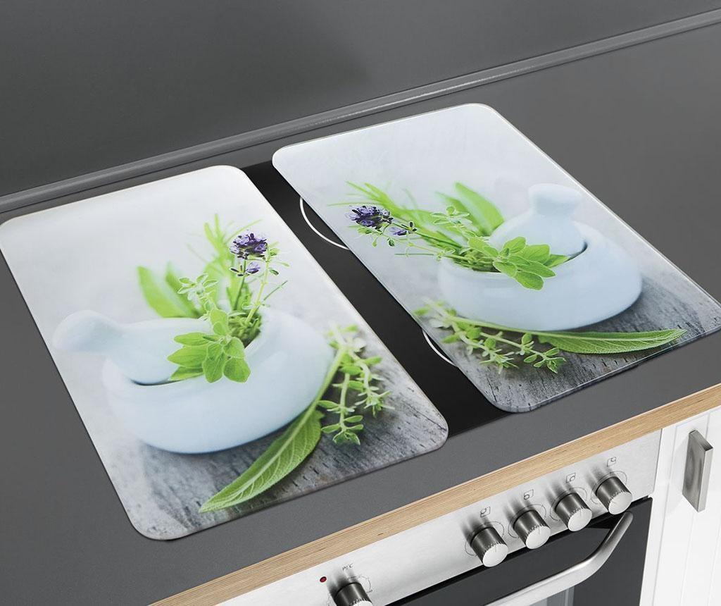 Set 2 zaštitne ploče za štednjak Herb Garden