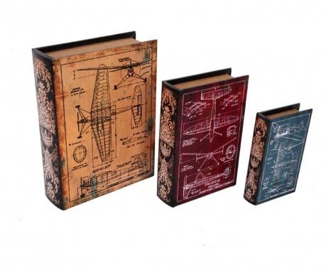 Set 3 kutije tipa knjige Planos