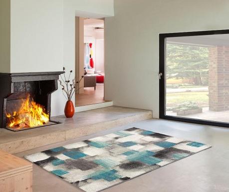 Preproga Squares Blue 160x230 cm