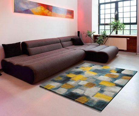 Preproga Squares Yellow 140x200 cm