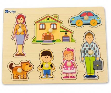 Gra typu puzzle 7 elementów Family