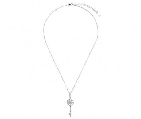 Łańcuszek z zawieszką Heart Key Silver