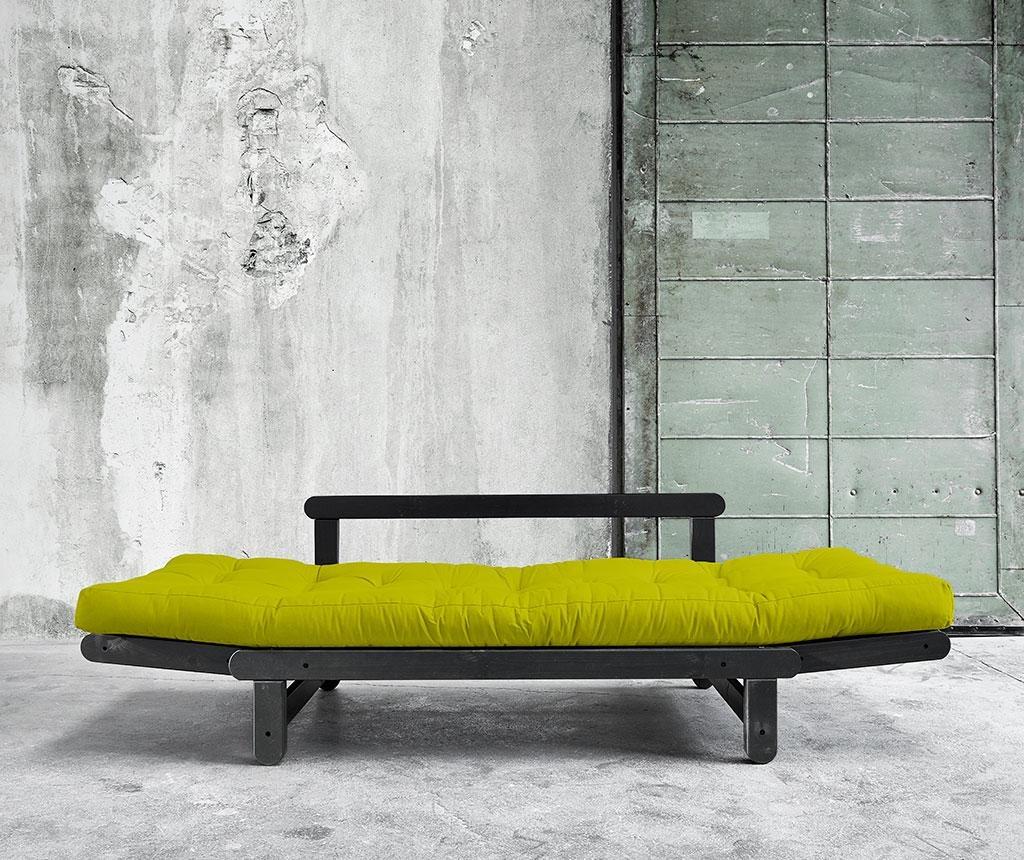Sofa extensibila Beat Black and Pistachio