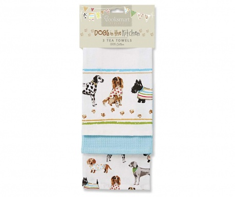 Set 3 prosoape de bucatarie Show Dogs 45x65 cm