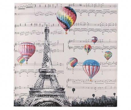 Ballons Eiffel Kép 60x60 cm