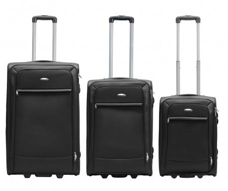 1822308fc8f23 Sada 3 cestovných kufrov Lite Traveller Black - Vivrehome.sk