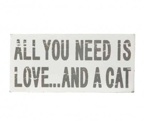 Dekoracja Love & A Cat