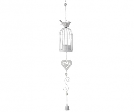 Suspended candle holder Birdcage Heart