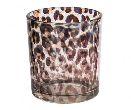 Suport pentru lumanare Leopard Clear