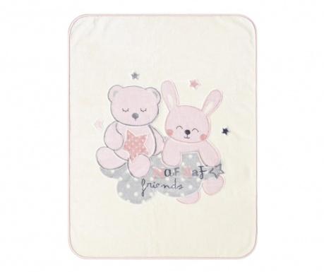 Pléd Friends Pink 110x140 cm