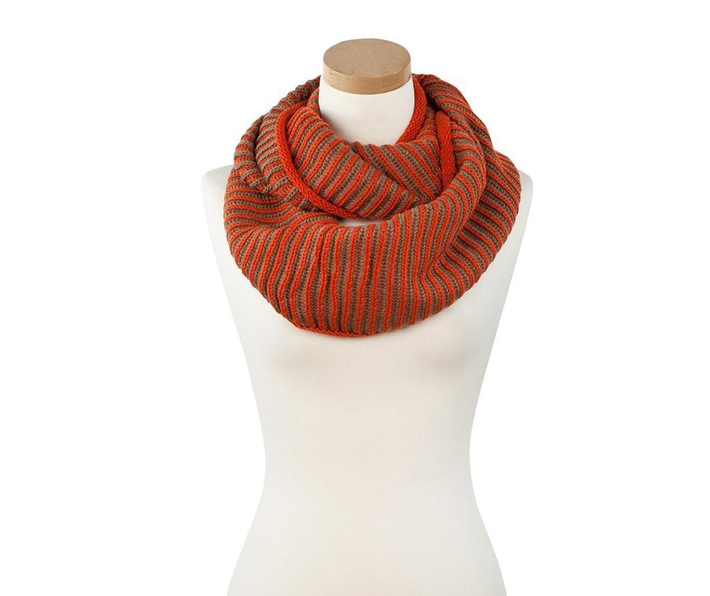 Dámsky kruhový šál Knit Orange 30x140 cm