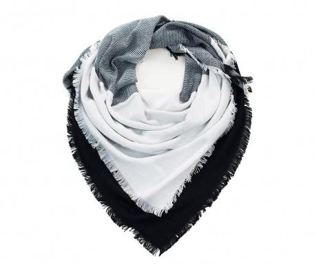 Linium White Black Sál 140x140 cm