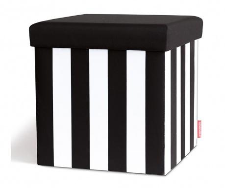 Taburet pliabil Black & White