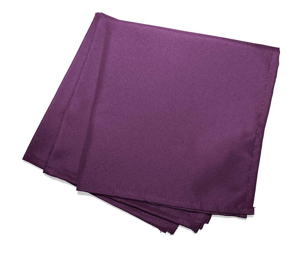 Set 3 stolna ubrusa Essentiel Purple 40x40 cm