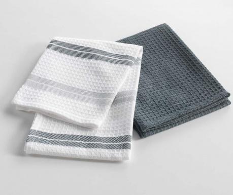 Комплект 2 кухненски кърпи Cave a Vin Grey 50x70 см