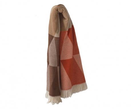 Priročna odeja Pisa Brown & Terracotta 140x180 cm