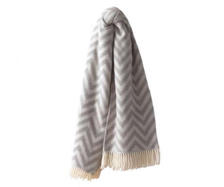 Pled Chevron Light Grey 140x180 cm