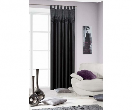 Draperie City Black 140x250 cm