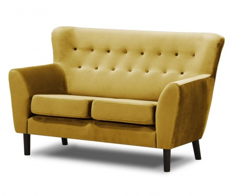 Canapea 2 locuri Leeds Mustard